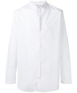 Transit | Band Collar Shirt Mens Size 50 Cotton/Spandex/Elastane