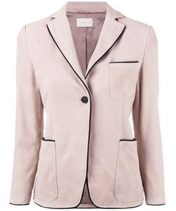 L'Autre Chose | Pipin Blazer Womens Size 40 Lamb Nubuck Leather