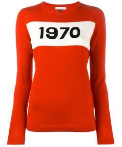 Bella Freud   1970 Intarsia Sweater Womens Size Small Wool