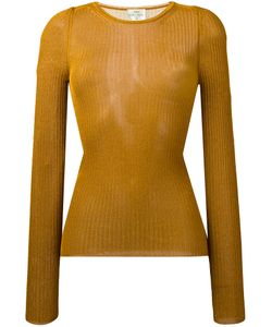 Forte Forte | Ribbed Detail Jumper Womens Size 3 Viscose/Metallized Polyester