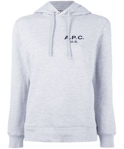 A.P.C. | Logo Hooded Sweatshirt Womens Size Small Cotton/Polyester