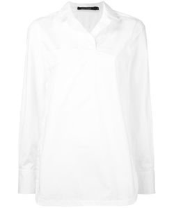 Sofie D'hoore | Round-Hem Blouse With Collar Womens Size 38 Cotton