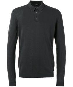 Roberto Collina | Longsleeved Polo Shirt Mens Size 48 Cotton