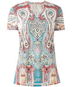 Etro | Paisley Print V-Neck Top Womens Size 42 Cotton