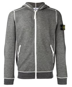 Stone Island | Arm Patch Zipped Hoodie Mens Size Small Cotton/Polyester
