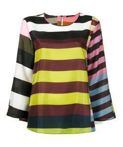 Odeeh | Multiple Stripes Blouse Size 36 Silk