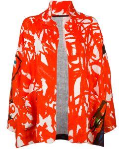 Daniela Gregis | Patterned Open-Front Jacket Womens Linen/Flax