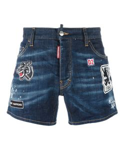 Dsquared2 | Sport Packo Distressed Patch Shorts Mens Size 50 Cotton/Polyester/Spandex/Elastane