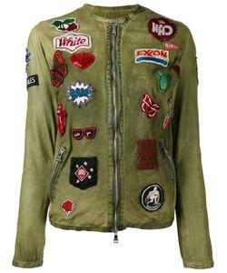 Giorgio Brato   Multi Patched Jacket Womens Size 42 Leather/Nylon/Cotton