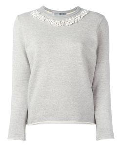 Comme Des Garçons Comme Des Garçons   Pearled Trim Sweatshirt Womens Size