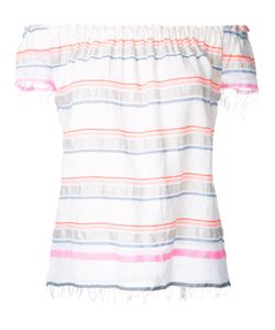 Lemlem   Off Shoulders Striped Top Womens Size Medium Cotton/Acrylic