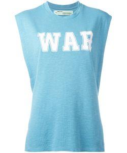 Off-White | War Tank Top Womens Size Small Cotton/Viscose/Silk