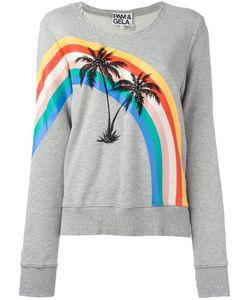 Pam & Gela | Printed Palm Trees Sweatshirt Womens Size Medium