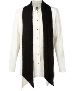 Aleksandr Manamïs   Contrasting Scarf Raw Shirt