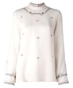 Vilshenko | Larissa Frame Blouse Womens Size 12 Silk