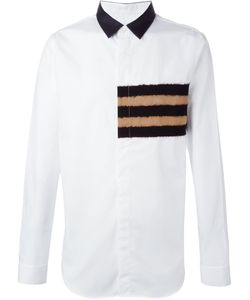 Cy Choi | Striped Felted Detail Shirt
