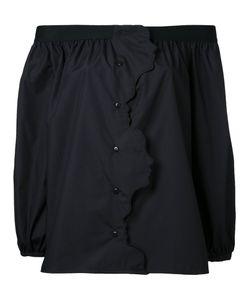 Vivetta | Off-Shoulders Buttoned Blouse Womens Size 36 Cotton
