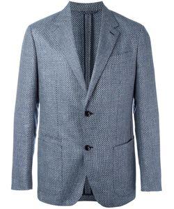 Ermenegildo Zegna | Checked Blazer Mens Size 52 Silk/Linen/Flax/Cupro/Wool