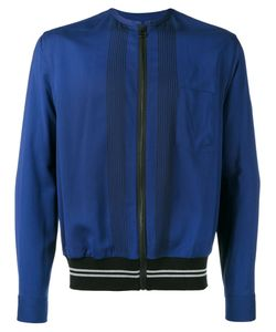 Lanvin | Embroide Zipped Bomber Jacket Mens Size 38 Spandex/Elastane/Viscose