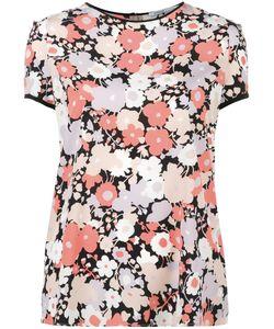Agnona | Print T-Shirt Womens Size 40 Silk/Spandex/Elastane