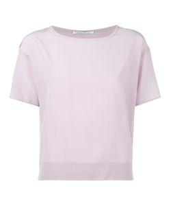 Agnona | Plain T-Shirt Womens Size 40 Silk/Cotton/Cashmere