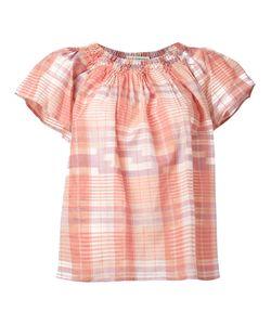 Ulla Johnson | Off-Shoulder Plaid Blouse Womens Size 4 Cotton