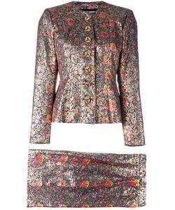 Saint Laurent | Yves Vintage Lame Two Piece Suit Womens Size 34
