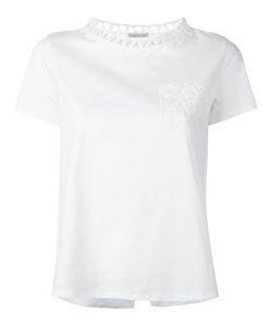 Moncler | Lace Detail T-Shirt Womens Size Large Cotton