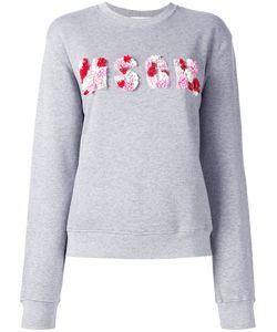 MSGM   Sequins Logo Sweatshirt Womens Size Xs Cotton/Viscose/Plastic/Sequin