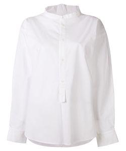 Y's   Band Collar Shirt Womens Size 2 Cotton/Polyurethane