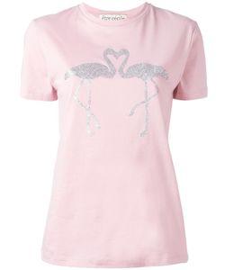 Être Cécile | Flamingo Print T-Shirt Womens Size Small Cotton