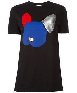 Être Cécile | Dog Print T-Shirt Womens Size Xs Cotton
