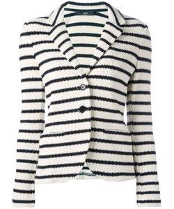 Steffen Schraut   Striped Blazer Womens Size 40 Cotton/Spandex/Elastane
