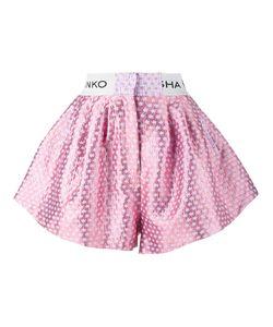 Natasha Zinko   Logo Waistband Shorts Womens Size 36 Cotton/Polyester/Acetate/Polyimide