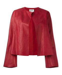 Forte Forte | Collarless Open Leather Jacket Womens Size 0 Leather