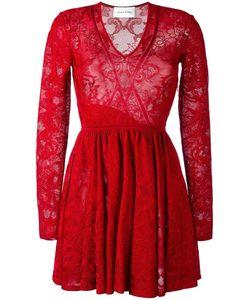 Zuhair Murad | Lace Fla Dress Womens Size 38 Viscose/Spandex/Elastane