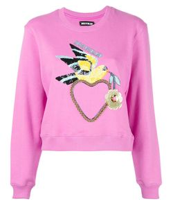 House Of Holland | Dove Heart Cropped Sweatshirt Womens Size 10