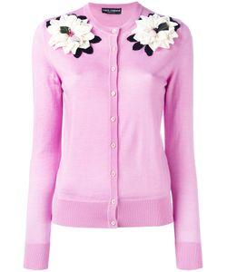 Dolce & Gabbana | Flower Applique Cardigan Womens Size 42 Cashmere/Silk