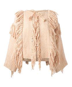 Ulla Johnson | Tassel Fringed Poncho Womens Size Xs/S Cotton