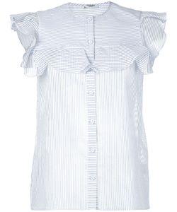 Vilshenko | Striped Sleeveless Shirt Womens Size 8 Cotton/Silk/Polyamide