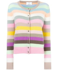 Allude | Striped Cardigan Womens Size Medium Cashmere