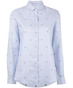Maison Kitsuné   Jacquard Fox Shirt Womens Size 38 Cotton