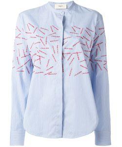 Ports   1961 Embroide Slit Detail Shirt Womens Size 42 Cotton