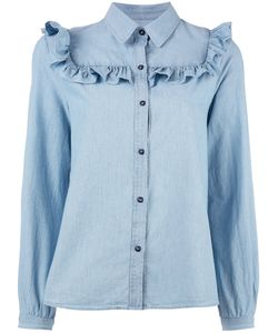A.P.C. | Frill Shirt Womens Size 40 Cotton