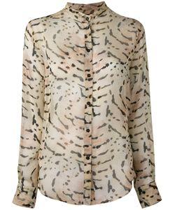 Tom Ford | Printed Band Collar Shirt Womens Size 42 Silk