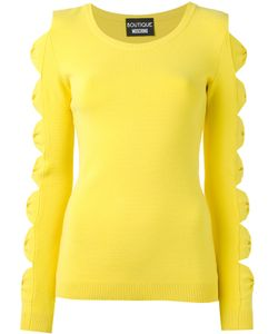 Boutique Moschino | Cut-Out Bow Jumper Womens Size 42 Polyester/Rayon