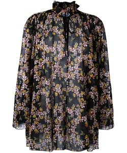 Giamba | Gathe Collar Blouse Womens Size 42 Cotton/Silk/Polyester