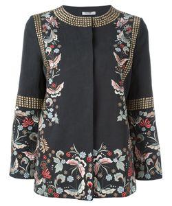 Vilshenko | Embroide Jacket Womens Size 10 Cotton/Linen/Flax/Acetate/Cupro