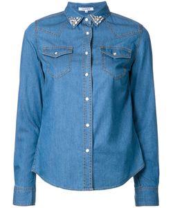 Guild Prime | Stoned Collar Denim Shirt Womens Size 36 Cotton/Nylon/Cupro