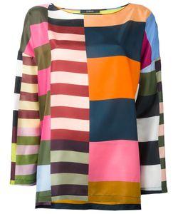 Odeeh | Multi-Stripes Blouse Womens Size 38 Silk